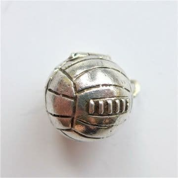 RARE 1950's Football Pendant Charm - Opens To Reveal Goal Keeper SILVER 1.7cm